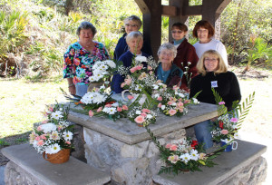 Kathy provided instructions in flower arranging - great fun!